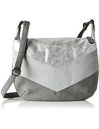 s.Oliver (Bags) Damen City Bag Umhängetasche, Grau (Grau), 2x26.5x36 cm