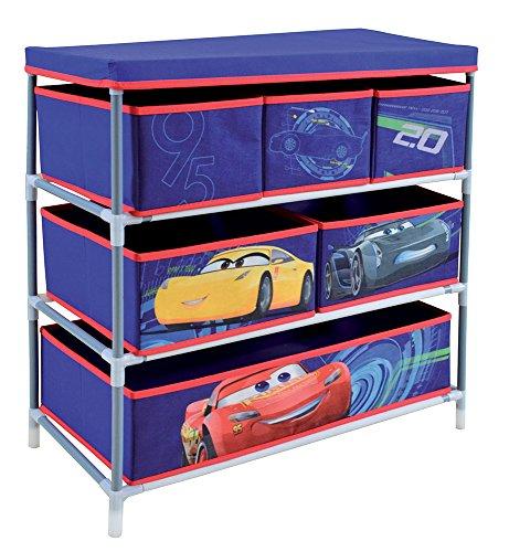 Fun House 712765 Etagère 6 casiers pour Enfant Métal/PP/Carton Bleu 65 x 30 x 60 cm