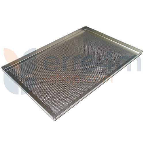 Bandeja horno perforada 60x 40x 2H. cm. aluminio