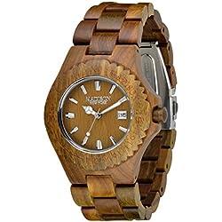 Madison Unisex-Armbanduhr Holzuhr Analog Quarz verschiedene Materialien G4542E