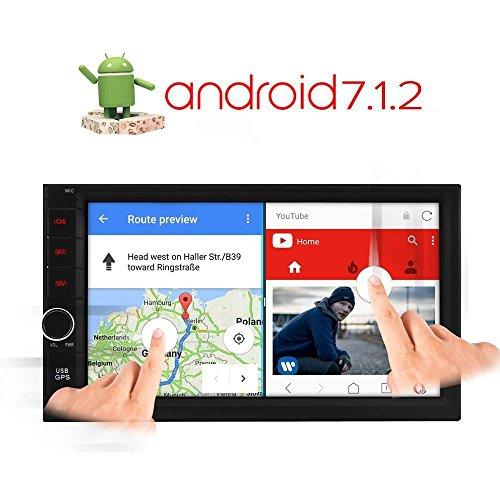 A-Sure 7 Zoll Android 7.1.2 Autoradio 2 Din Navigation GPS Unterstützt Mirrorlink DAB+ DVR OBD DVB Box 4G Bluetooth Wifi 180mm X 105mm Auto Navi USB MicroSD Universal SE023J