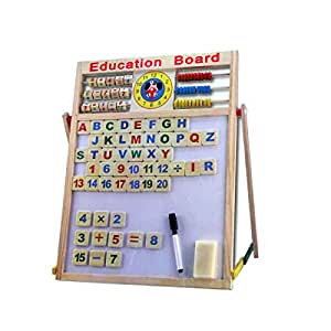 Multi-Purpose 2 in 1 Magnetic Slate Educational Board with Alphabets & Numbers (Large)