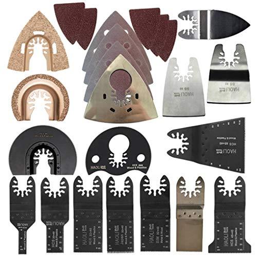 Vkospy 66pcs Oszillationswerkzeug Sägeblatt Zubehör Holz Metall Cutting Multifunktions-Elektroschrauber