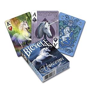Fournier- Unicorns, by Anne Stokes Baraja de Cartas de Poker de Fantasía para Coleccionistas, (Bicycle 1042740)