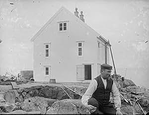 POSTER Lighthouse worker Anders Folkestadas Krakenes lighthouse Sogn og Fjordane Wall Art Print A3 replica