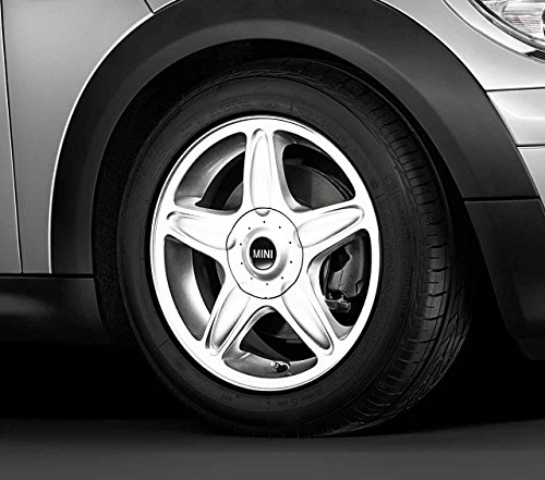 MINI Genuine Chequered Flag Design Wheel Valve Dust Caps Black//White 36120422547