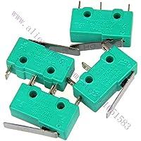 BUPADEALER 10pc / lote, KW4-3Z-3 - Rodillo de bisagra corta SPDT momentáneo con micro interruptor 15 A 250 V AC para impresora 3D