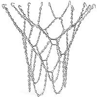 TRIXES Reemplazo de Cadena Altamente Durable Red de Baloncesto de Robusto Metal Plateado Tamaño Estándar del Bucle de los Ganchos en S