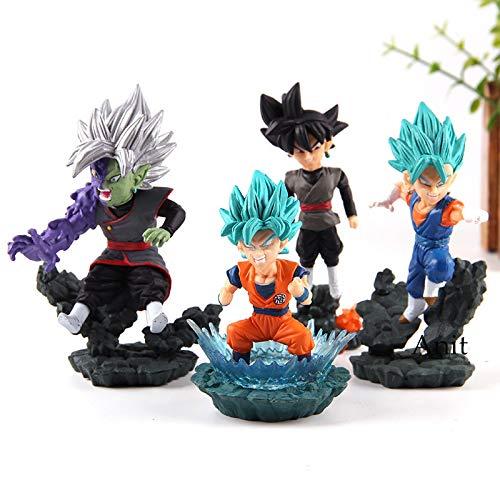 Set WCD 4 Figuren Dragon Ball DBZ DBS DB GT PVC Figuren Goku Trunks Zeno Zamasu Vegeta Größe 8-10 cm - Db-trunk