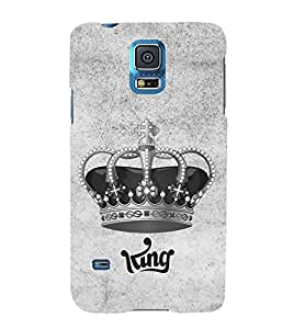 HiFi Designer Phone Back Case Cover Samsung Galaxy S4 Mini I9195I :: Samsung I9190 Galaxy S4 Mini :: Samsung I9190 Galaxy S Iv Mini :: Samsung I9190 Galaxy S4 Mini Duos :: Samsung Galaxy S4 Mini Plus ( King Throne Logo Grey )