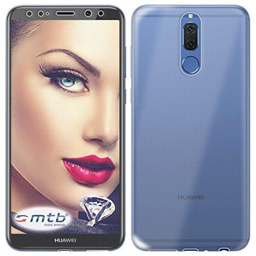 mtb more energy® Schutz-Hülle Twin Eco (Vorder- und Rückseite) für Huawei Mate 10 Lite (5.9'') | 360 Grad Rundumschutz | TPU Case Cover Tasche