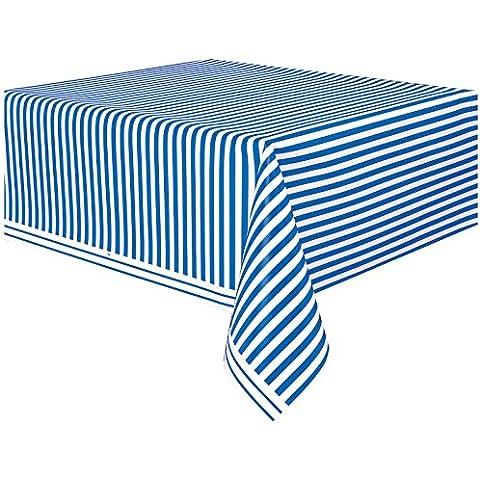 A righe blu royal in plastica per tavolo panno pulire