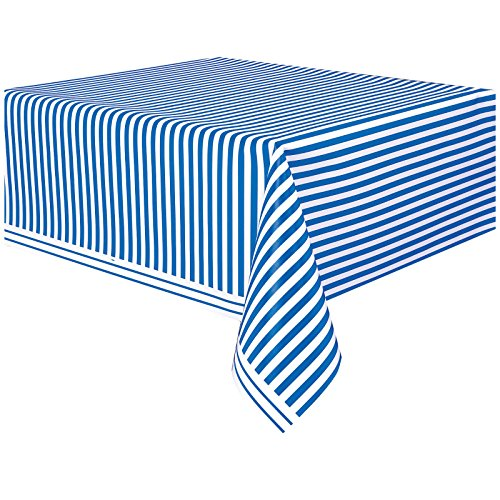 Striped Royal Blue Plastic Table Cover Cloth Wipe Clean Party Tablecloth Covers Cloths Polka Dot Royal Blue Round Table Cover