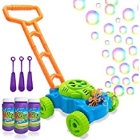 Bubble Lawn Mower-Electronic Bubble Machine-Children's Bubble Bubble Push Toy-Contains Bubble Solution-Best Birthday Gift for Boys, Girls, and Toddlers