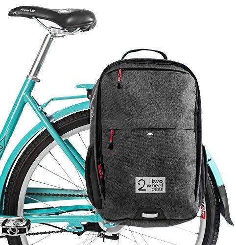 Two Wheel Gear - Rucksack Cabrio Satteltasche - 2 in 1 Fahrrad Pendler und Reise Bike Bag, (Grau) -