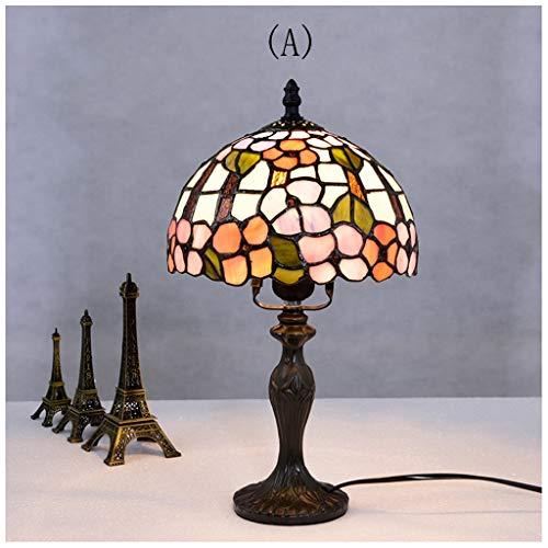CJW Lampe de table rétro européenne salon chambre mariage mariage fait à la main classique baroque 20cm (8 pouces) (Color : A)