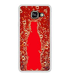 Fuson Designer Back Case Cover for Samsung Galaxy A3 (6) 2016 :: Samsung Galaxy A3 2016 Duos :: Samsung Galaxy A3 2016 A310F A310M A310Y :: Samsung Galaxy A3 A310 2016 Edition (Coke Bottle red bubbles gas Marine)