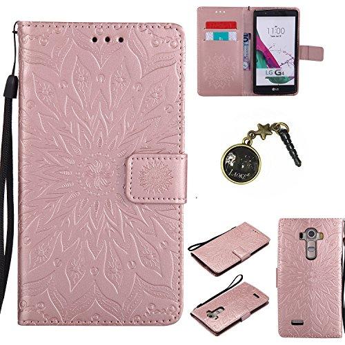 Preisvergleich Produktbild für LG G4 Hülle,Hochwertige Kunst-Leder-Hülle mit Magnetverschluss Flip Cover Tasche Leder [Kartenfächer] Schutzhülle Lederbrieftasche Executive Design +Staubstecker (6FF)