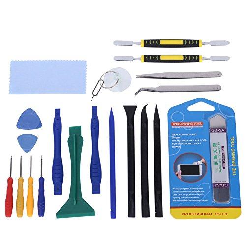 GHB kit 20 in 1 Cacciavite Strumenti Riparazione Apertura Schermo per iPad, iPhone, Tablet, Cellulari, (20 In 1 Kit)
