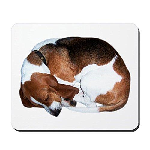 CafePress-Mousepad: Sleeping Basset Hound-rutschfeste Gummi Mauspad, Gaming Maus Pad