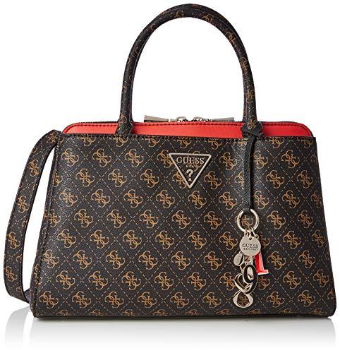 Multi-handle Satchel (Guess Damen Maddy Girlfriend Satchel Shopper, Mehrfarbig (Brown Multi), 34.5x24.5x14 centimeters)