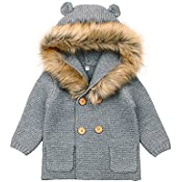 MiMiXiong Baby Sweater Coats Kid's Long Sleeve Knitted Cardigan Hoodies