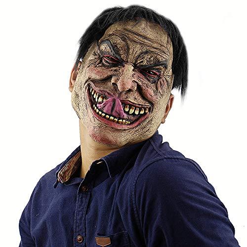 ZMDHL Halloween lustige elende Mann Maske beängstigend beängstigend Halloween Cosplay Kostüm Maske Adult Party Dekoration Requisiten