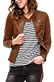 ONLY Damen Jacke onlFLORA Faux Leather Jacket CC OTW, Braun (Cognac), 38