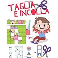 Taglia e Incolla: libro di attività forbici per bambini, Fogli di pratica di taglio per bambini in età prescolare 3-6 anni.