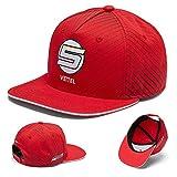 Ferrari 2018 Sebastian Vettel #5 Adult Flatbrim Cap Official Team Merchandise