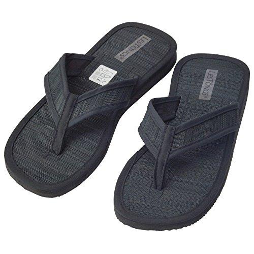 Japanwelt Zimtlatschen JUNCUS-V | Zimt Flip Flops mit Zimtsohle Unisex, vegan und perfekt für den Sommer | Die beliebten Les Tongs Zimt Schuhe aus Vietnam Schwarz