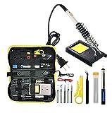 Fer à Souder Electrique avec Etain/Kit de soudure, Station portative pour souder et dessouder / 200V-230V 60W/ Température réglable 250°C-450°C