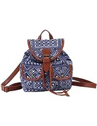 ERWAA Lona Bolso Backpack Mochilas Escolares Mochila Escolar Casual Bolsa Viaje Moda Estilo de la Señora