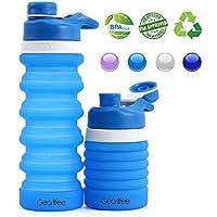 Gearlifee Botella de Agua Plegable, Botella de Agua de Silicona Plegable, Aprobado por la