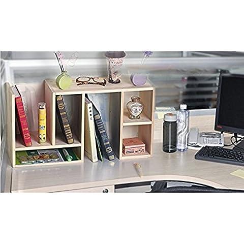 Creativo de escritorio estanteria simple tabla pequeña estanteria estanteria escritorio Desktop bastidores de almacenamiento ( Diseño : A )