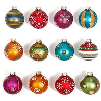 dd31d1591b6 Inge-glas 66059-K Mille Fiori – Juego de 12 bolas de navidad decoradas