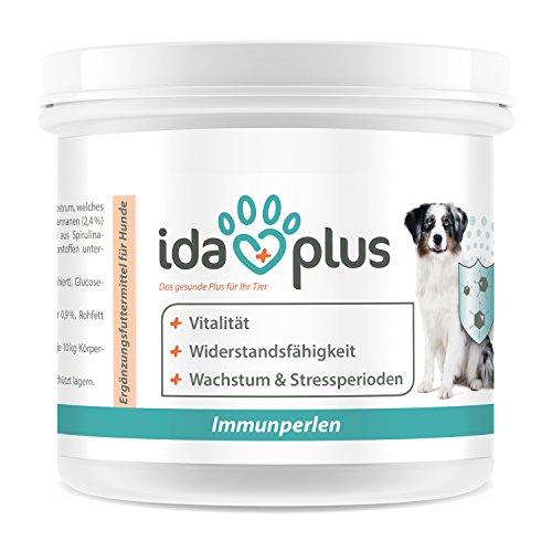 Ida Plus - Immun-Perlen - für Vitalität und Wohlbefinden des Hundes aus 100% Natur | im Wachstum | während Stressperioden | im Winter | Reich an natürlichen Abwehrstoffen aus Kolostrum -
