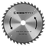 EBERTH Hartmetall-Kreissägeblatt für Holzschnitte (254 x 2,8 x 30 mm, 36 Zähne, lange Lebensdauer)