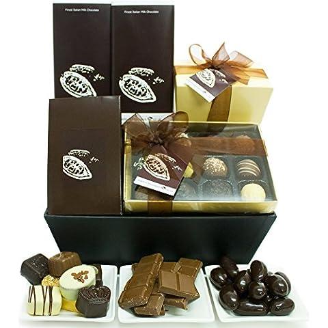 CHOCOLATIERS Cioccolato Gourmet Cesto Regalo - Cesti di cioccolato e confezioni regalo, cioccolatini di lusso e scatole di cioccolatini di Eden4chocolates