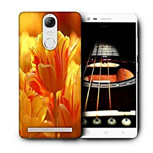 Snoogg Orange Tulips Designer Protective Phone Back Case Cover For Lenovo Vibe K5 Note