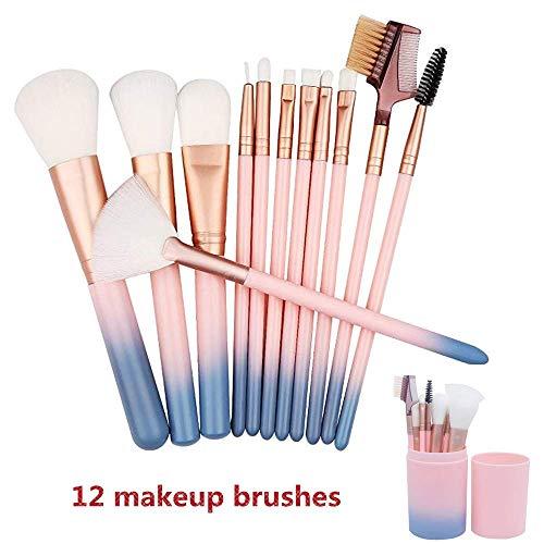 Set de brochas de maquillaje profesional HIROCK Set de 12 piezas de...
