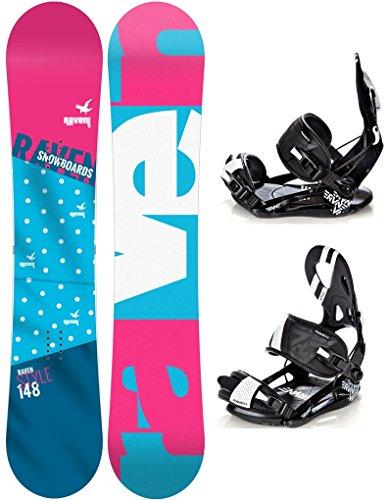 Snowboard Set: Snowboard Style Rocker 2017 + Bindung Raven s250 Black M