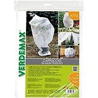 Verdemax 6755 - Cappuccio in TNT 17 g/mq in busta,  confezione da 6 pezzi
