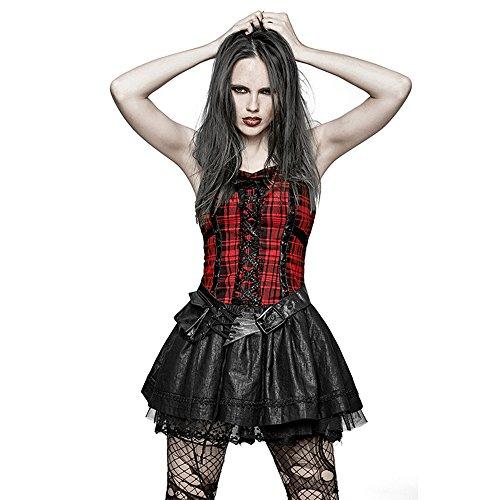 y Mini Kleider Halloween Kostüm Steampunk Womens Party Ballkleid Kleid Tutu Kleid (Female Punk Rock Kostüm)