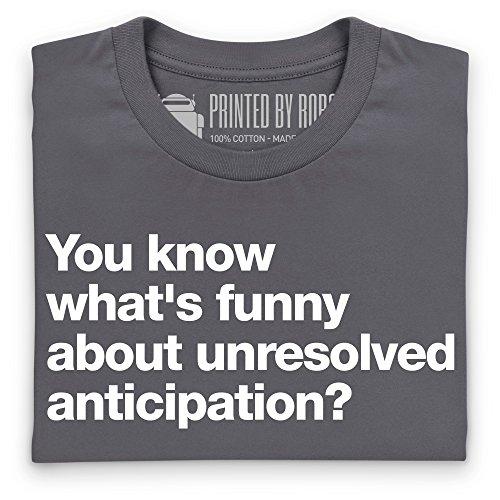 Unresolved Anticipation T-Shirt, Herren Anthrazit