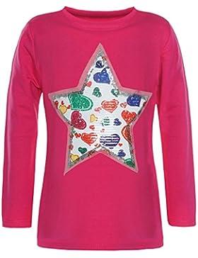 BEZLIT - Blusa - Blusa - Estrellas - Cuello redondo - Manga Larga - para niña rosa 12 Años / 152 cm