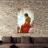Digitale Olio Pittura Quadro Dipinto A Mano Astratto Donna Moderna Pittura Nuda,30 * 60CM