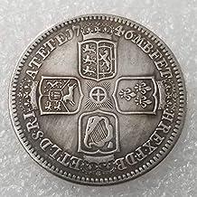 YunBest 1746 Monedas Antiguas del Reino Unido – Colección de Monedas Antiguas de Plata británica –