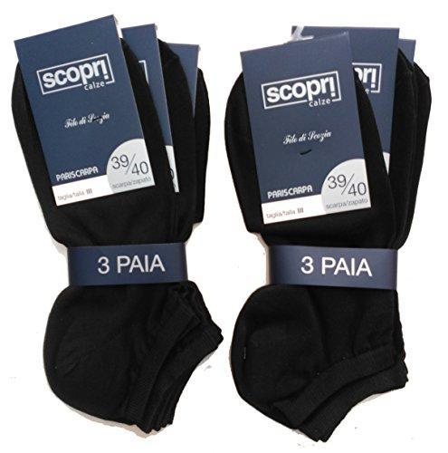 6 calcetines hilo escocia invisibles color negro Scopri