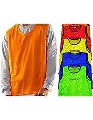10x Markierungshemden/Trainingsleibchen 6 Farben - 3 Größen lieferbar